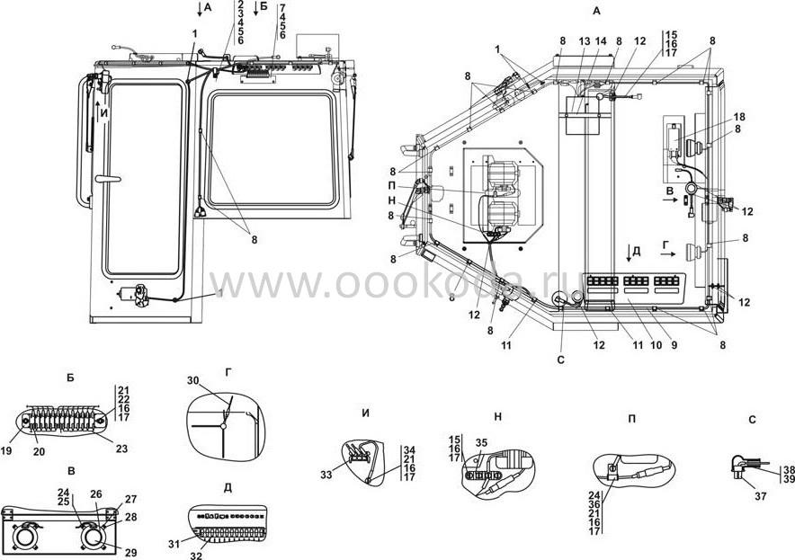 1102-10-13-01СП Электрооборудование крыши кабины